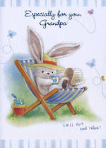 Grandad Birthday Card: Bebunni Grandpa Chill Out