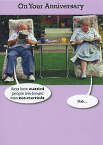 Anniversary Card: Young At Heart Non-Marrieds