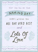 Baby Card Naming Day: Lots Of Love