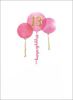 Age Card 13: Female Birthday Paper Gallery