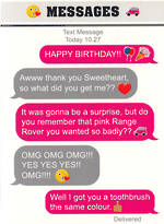 Text Msg: Birthday Range Rover