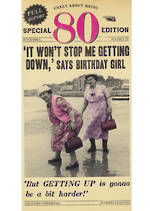 Age Card 80 Female Birthday Fleet Street Tall