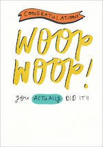 Congratulations Card: Happy News Woop Woop