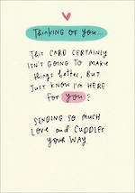 Sympathy Card: Thinking Of You Happy News
