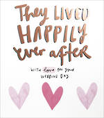Wedding Card: Happy News Happily Ever After