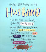 Husband Birthday Card: Happy News Large