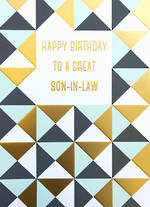 In Laws Birthday Card: Son In Law Apollo Triangles