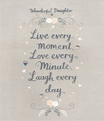 Daughter Birthday Card: Love & Laughter Every Moment