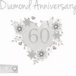 Anniversary Card 60th Diamond: Made With Love Heart