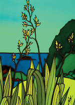Mini Card: Flax At The Sea