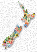 Mini Card: NZ Stamp Map