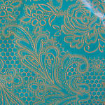 Napkins: Paper Products - Cocktail Lace Royal Gold