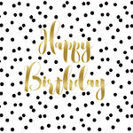 Napkins: Paper Products - Cocktail Birthday Confetti