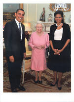 Humorous Birthday Card: Palmpress Obamas & Queen