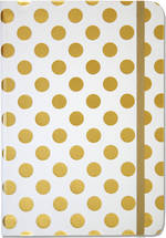 Hardcover Journal: Small Gold Dots