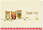 Thank You Note Cards: Perching Owls