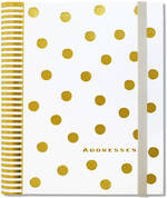 Address Book: Large Gold Dots