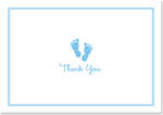 Thank You Note Cards: Baby Step Blue
