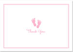 Thank You Note Cards: Baby Step Pink