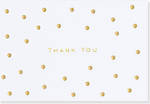 Thank You Note Cards Gold Dots