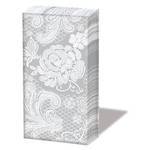 Hankies Sniffs Lace Silver Facial Tissues
