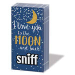 Hankies Sniffs Moon Love Dark Blue Facial Tissues