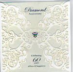 Anniversary Card 60th Diamond: English Rose Lace