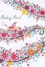 Mini Card: Bunting Baby Girl