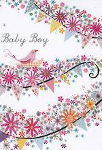Mini Card: Bunting Baby Boy