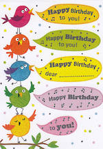Mini Card: Happy Birthday Tweets