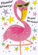 Mini Card: Happy Birthday Flamin Groovy
