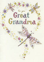 Great Grandmother Birthday Card: Neapolitan Dragonflies
