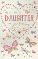 Daughter Birthday Card: To A Lovely Butterflies