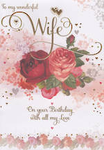 Wife Birthday Card: Penny Farthing Large