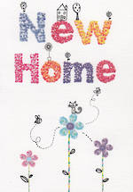 New Home Card: Flowers