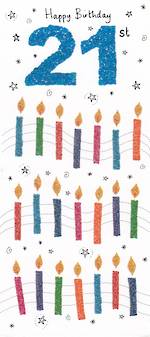 Age Card 21: General Sugar Pips Birthday Candle
