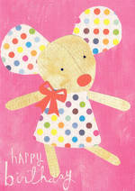 Kids' Birthday Card: Lally Do Happy Mouse