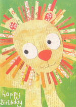 Kids' Birthday Card: Lally-Do Happy Lion