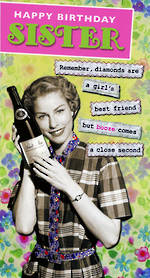 Sister Birthday Card: Remember Diamonds
