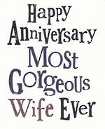 Anniversary Card Wife: Brightside Gorgeous