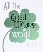 Good Luck Card: Brightside Clover