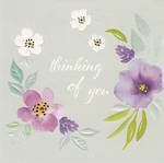 Sympathy Card: Thinking Of You Flora Pop