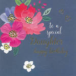 Daughter Birthday Card: Flora Pop Special
