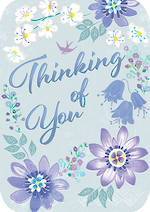 Sympathy Card: Thinking Of You Retro Flair