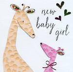 Baby Card Girl: Sherbet Dip Small