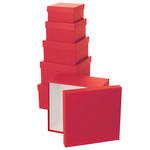 Gift Box Nest: Small - 3 Red