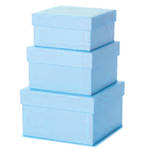 Gift Box Nest: Small - 3 Pale Blue