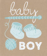 Baby Card Boy: Simson Booties