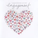 Engagement Card: Congratulations On Heart