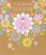 Daughter Birthday Card: Pip & Me Floral